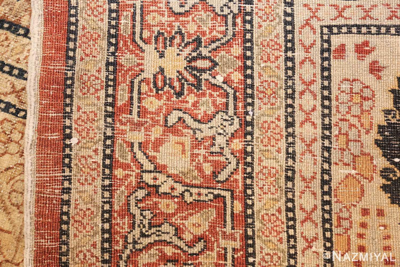 antique persian haji jalili tabriz carpet 46807 weave Nazmiyal