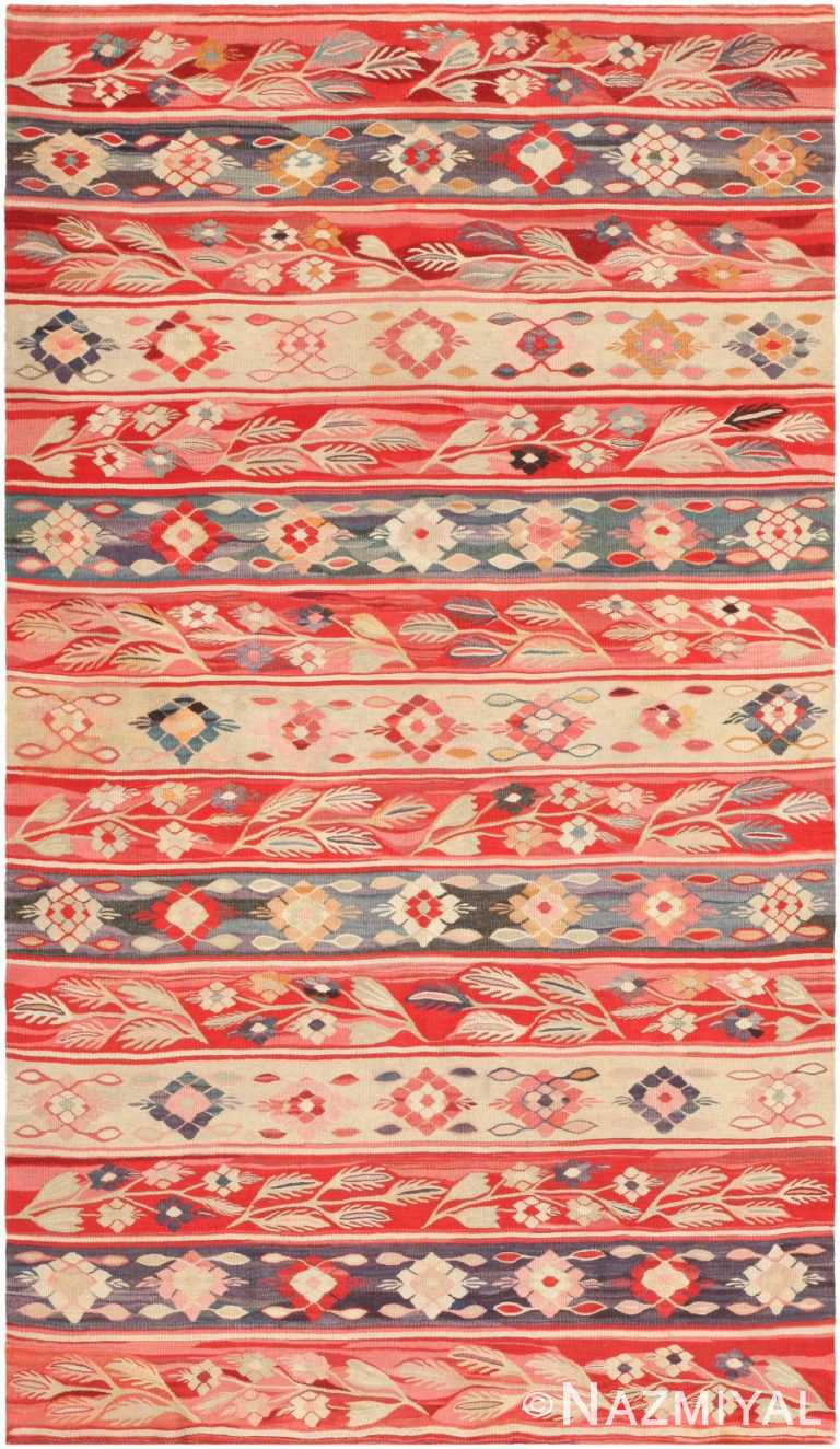 Antique Romanian Bessarabian Kilim 46904 Nazmiyal