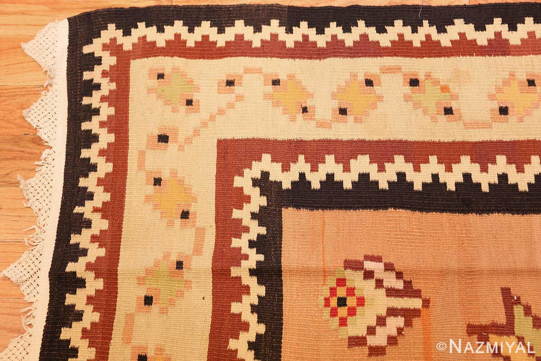 antique romanian bessarabian kilim 46925 corner Nazmiyal