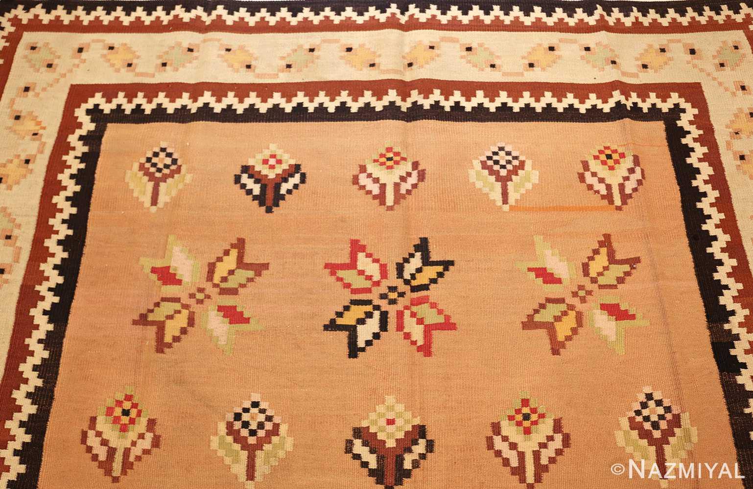 antique romanian bessarabian kilim 46925 top Nazmiyal