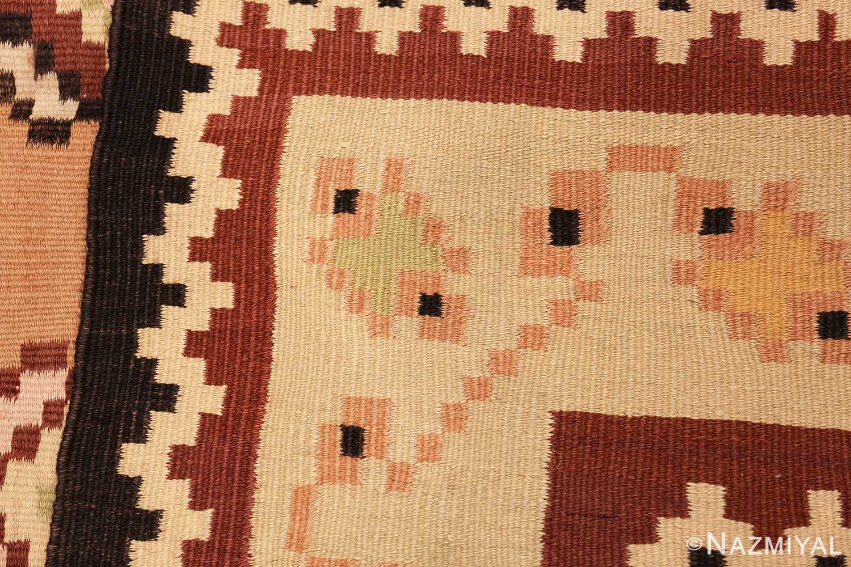 antique romanian bessarabian kilim 46925 weave Nazmiyal