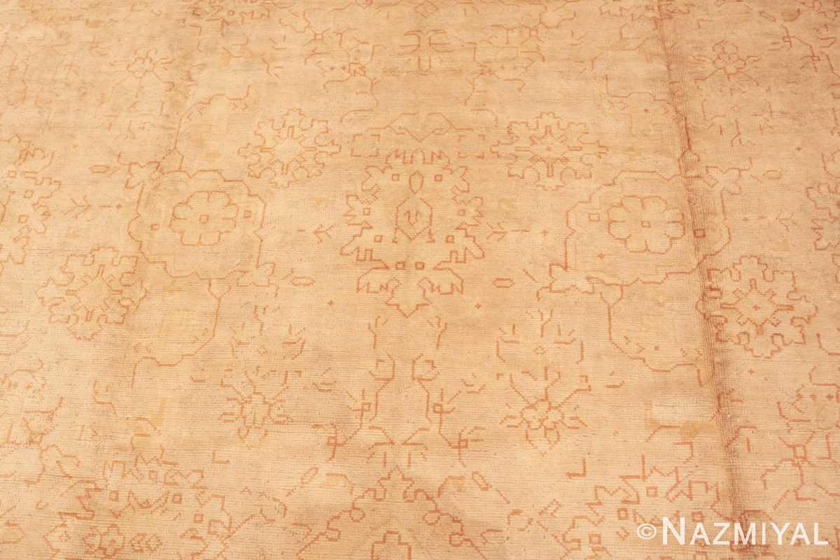 Background Antique Turkish Oushak carpet 46814 by Nazmiyal