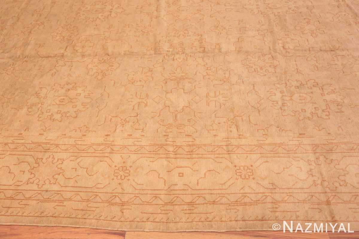 Border Antique Turkish Oushak carpet 46814 by Nazmiyal