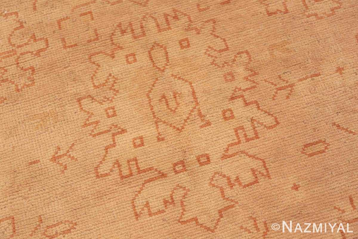 Close-up Antique Turkish Oushak carpet 46814 by Nazmiyal