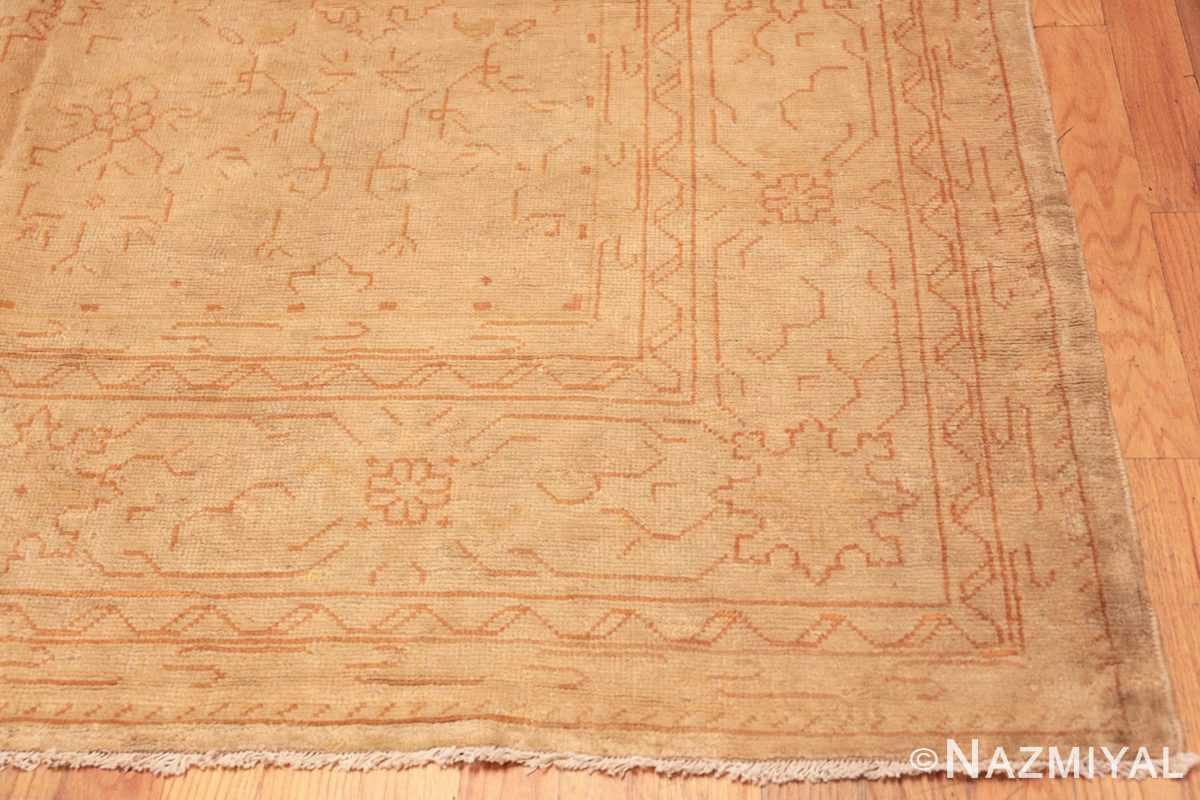 Corner Antique Turkish Oushak carpet 46814 by Nazmiyal