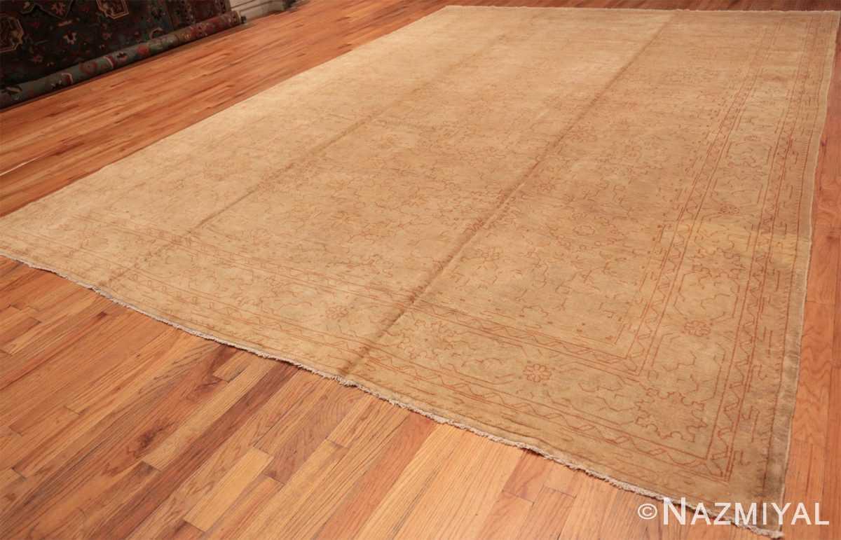 Full Antique Turkish Oushak carpet 46814 by Nazmiyal