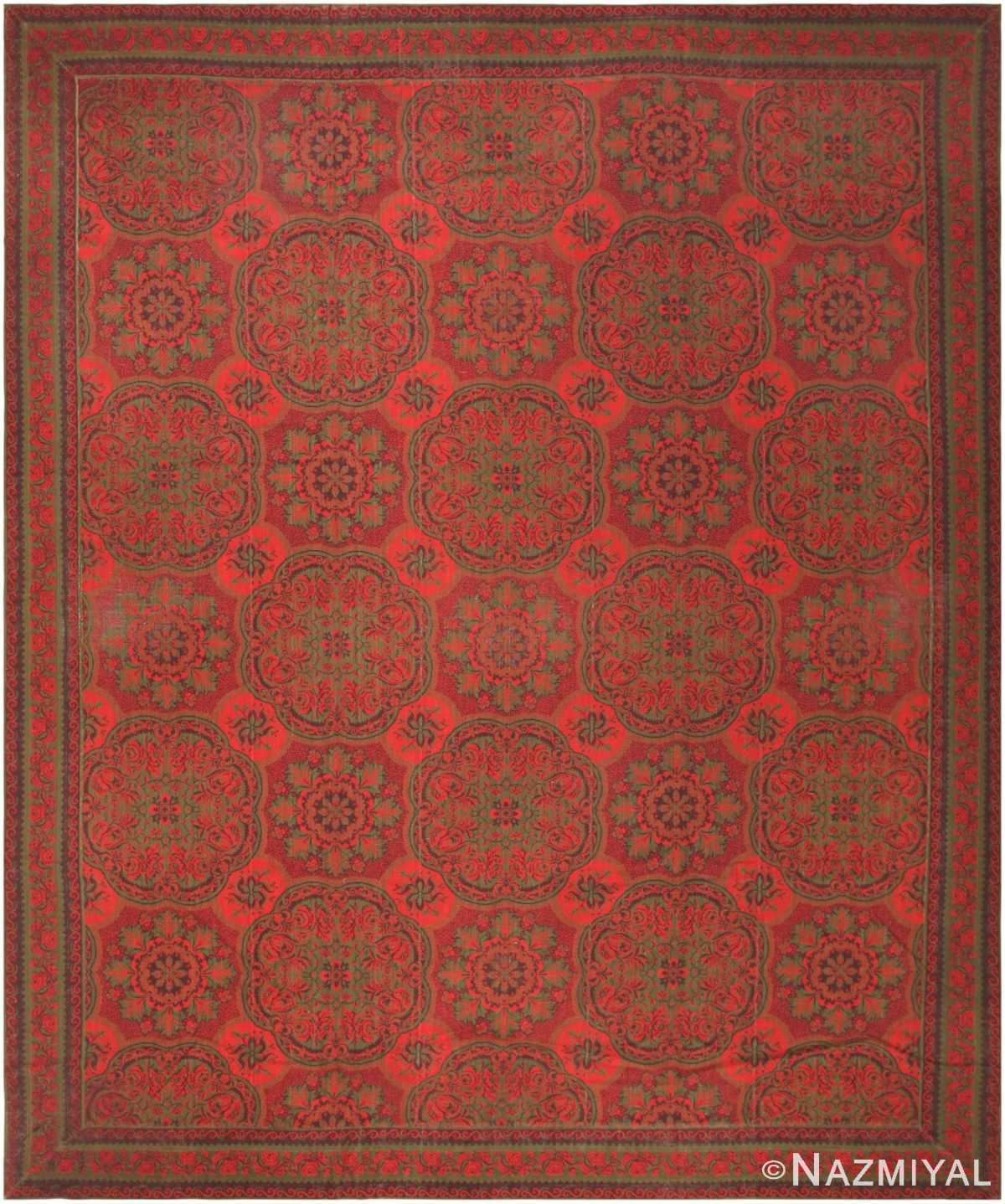 Antique American Axminster Carpet 42374 Nazmiyal