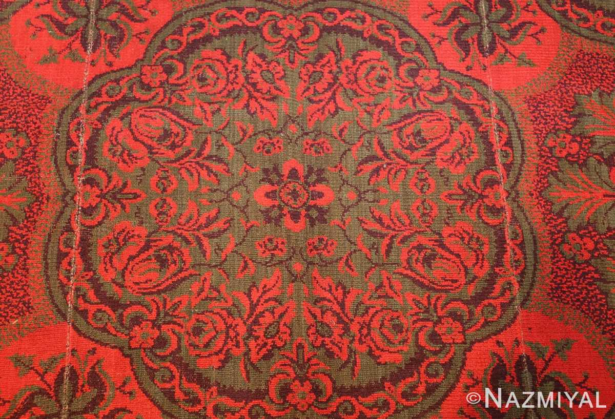 antique arts and crafts english wilton carpet 42374 green Nazmiyal