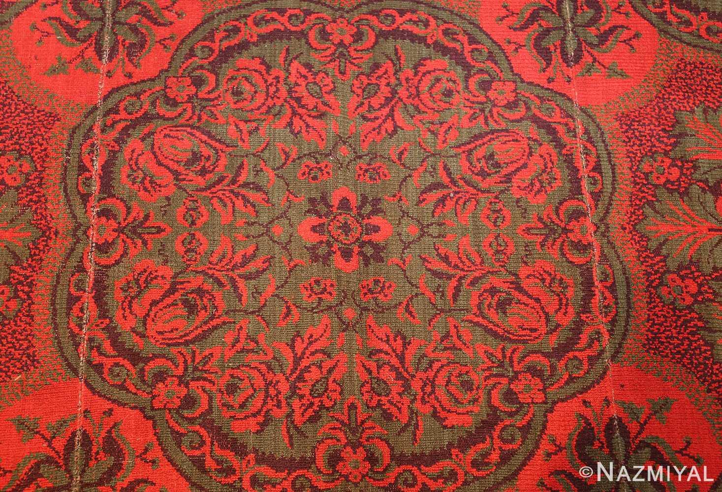 antique arts and crafts english wilton carpet 42374 green Nazmiyal