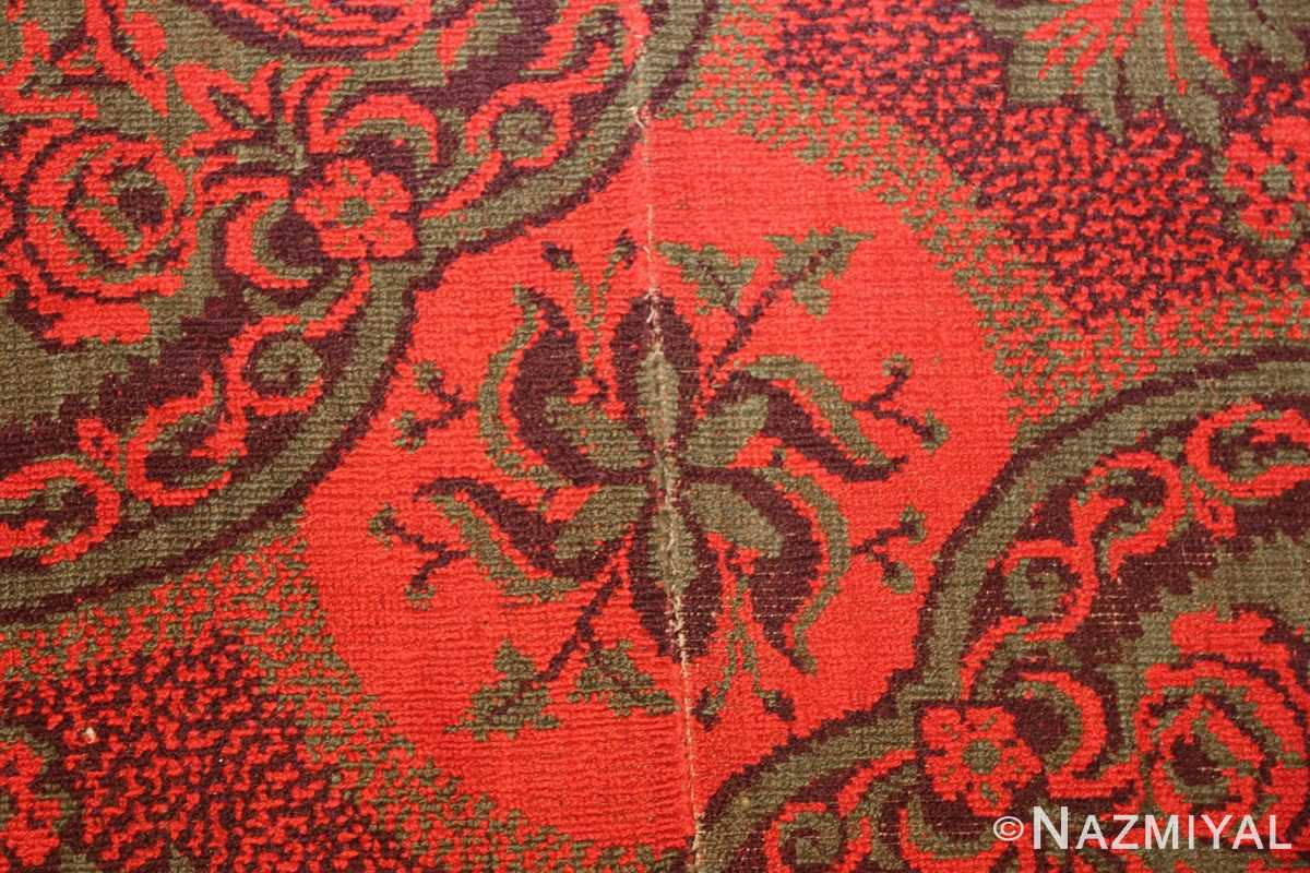 antique arts and crafts english wilton carpet 42374 red Nazmiyal