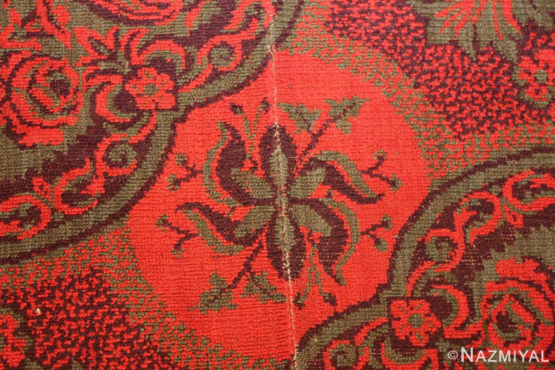 antique arts and crafts english wilton carpet 42374 red Nazmiyal