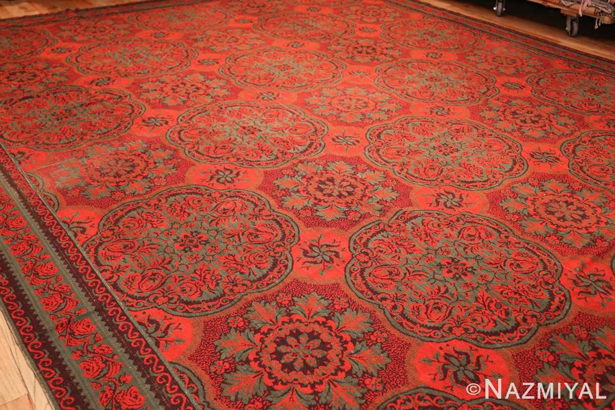 antique arts and crafts english wilton carpet 42374 side Nazmiyal