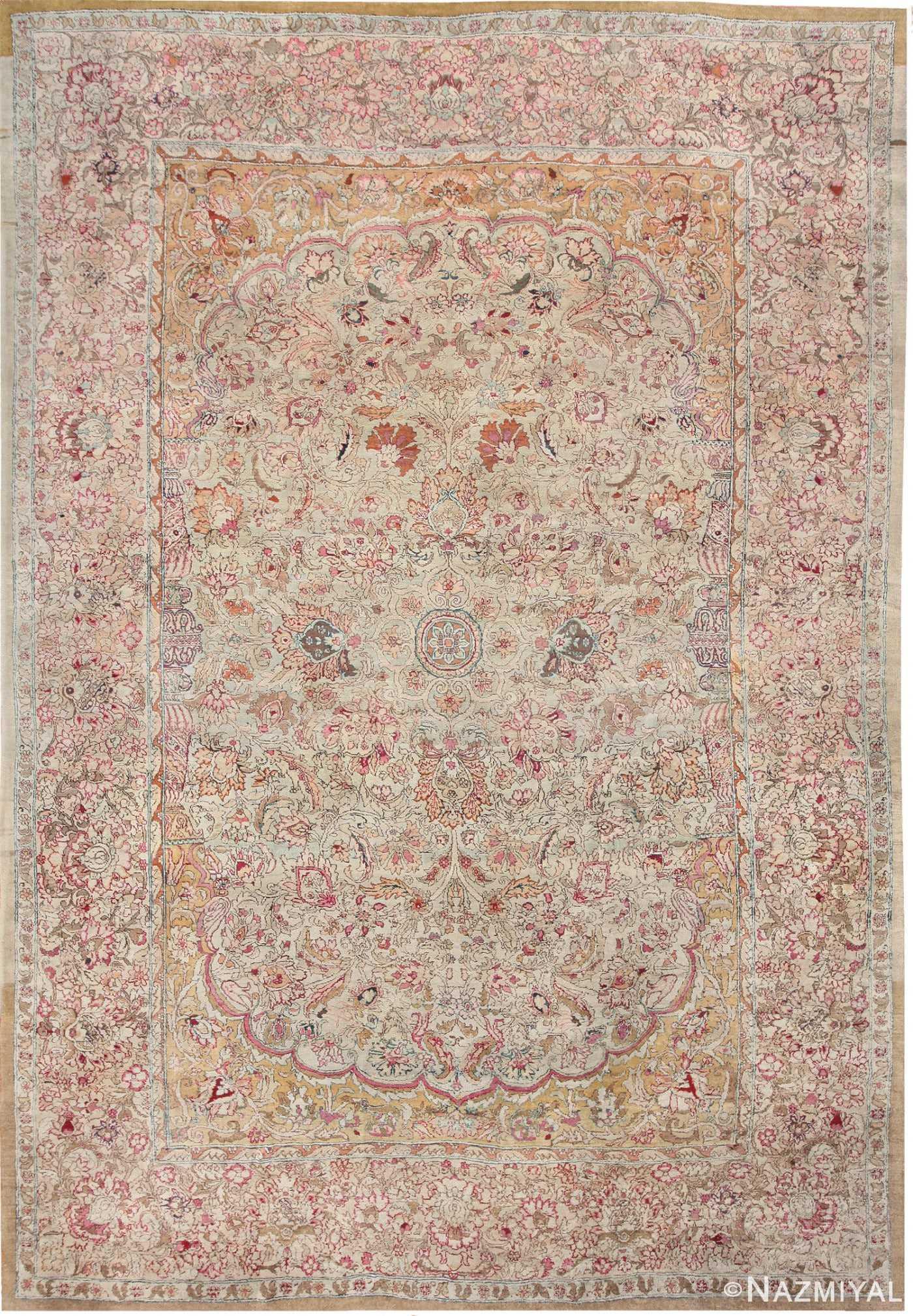 Antique Indian Agra Oriental Rug 40535 Nazmiyal