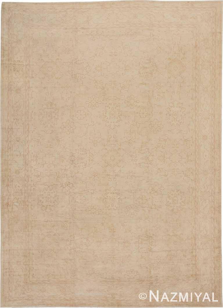 Antique Turkish Oushak Carpet 46814 Nazmiyal
