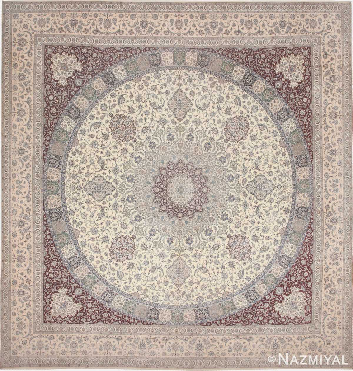Vintage Nain Persian Rug 43603 Nazmiyal