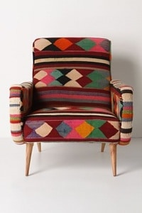 Vintage Kilim Chair by Anthropologie