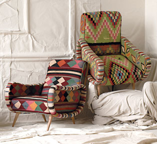 Vintage Kilim Chairs by Anthropologie