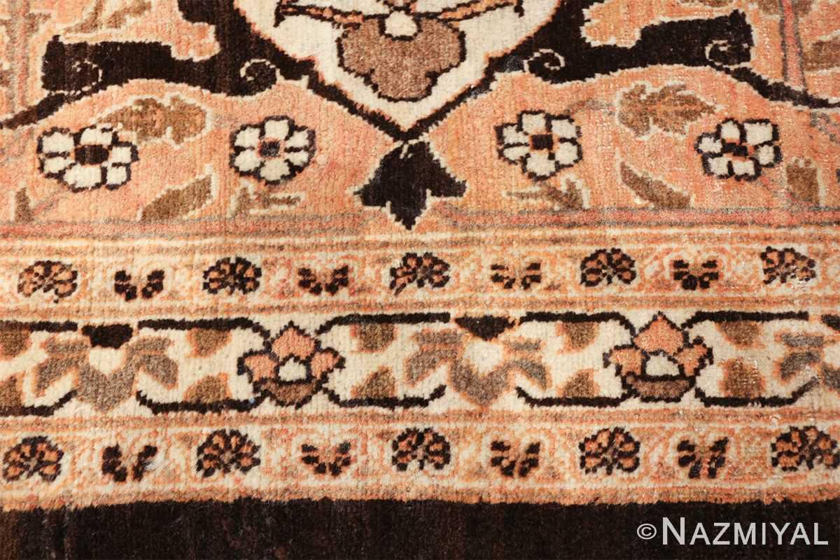 antique rare brown background persian tabriz rug 46808 daisy Nazmiyal