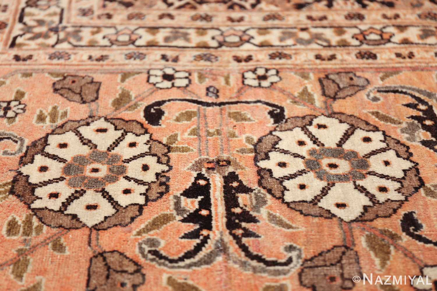 antique rare brown background persian tabriz rug 46808 double Nazmiyal