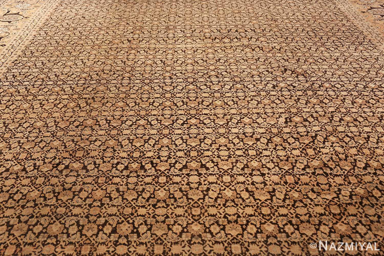 antique rare brown background persian tabriz rug 46808 field Nazmiyal
