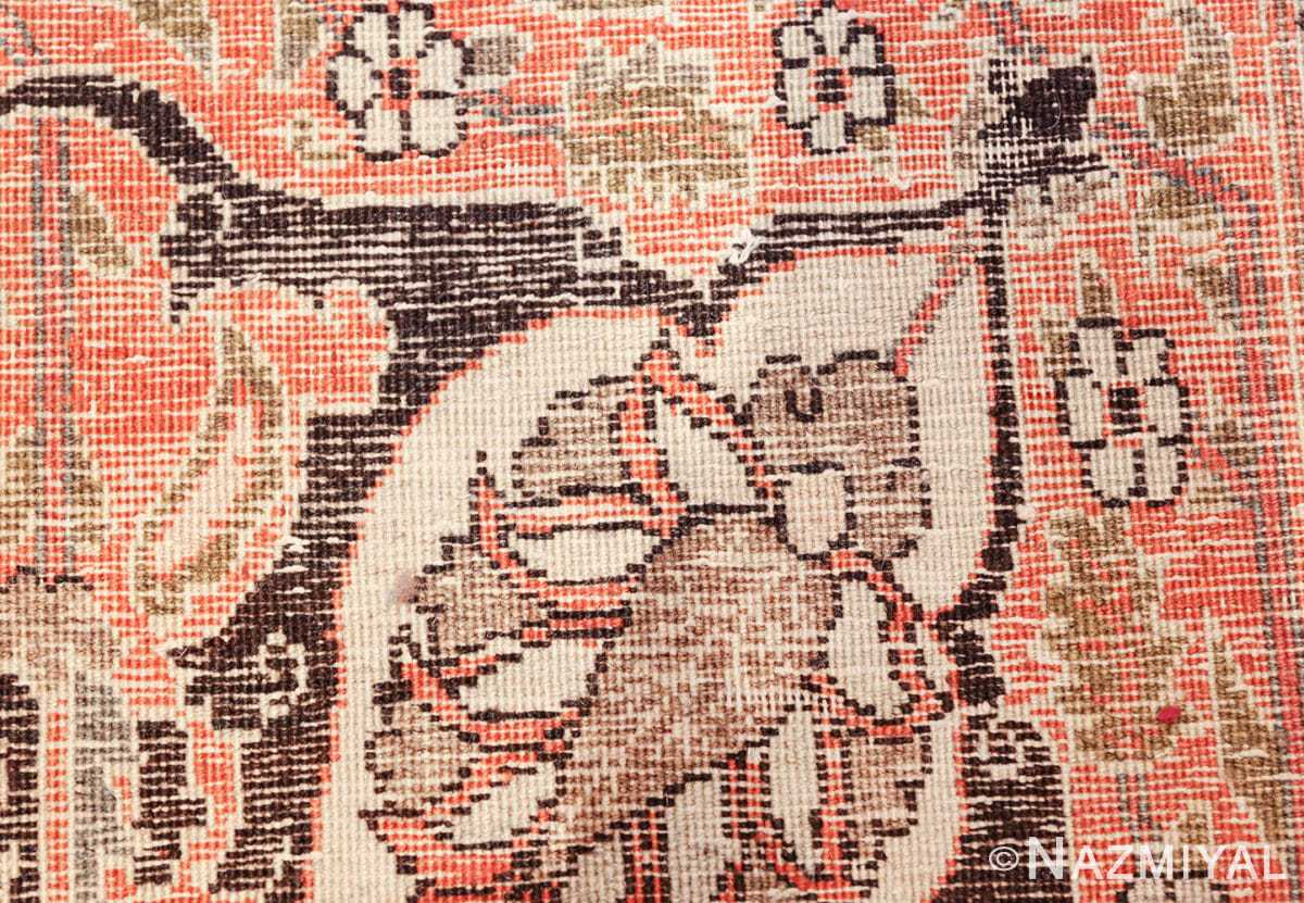 antique rare brown background persian tabriz rug 46808 knots Nazmiyal