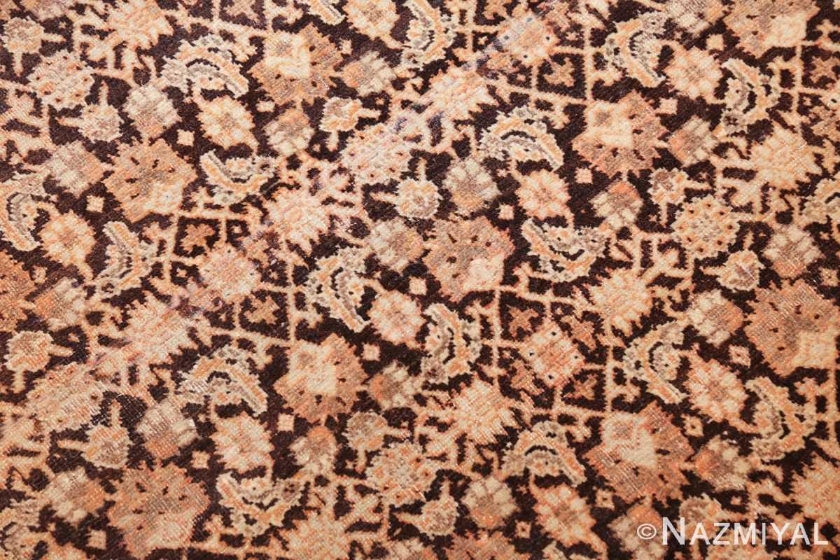antique rare brown background persian tabriz rug 46808 slanted Nazmiyal