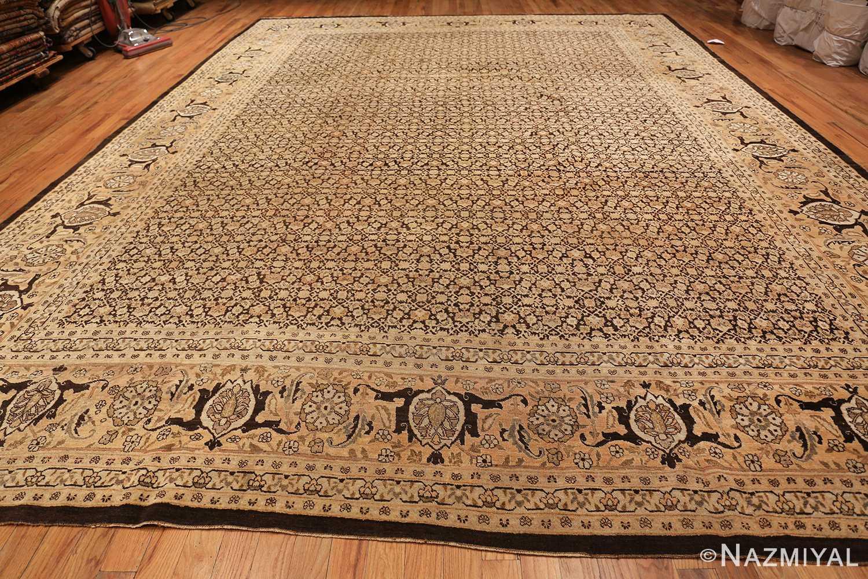 antique rare brown background persian tabriz rug 46808 whole Nazmiyal