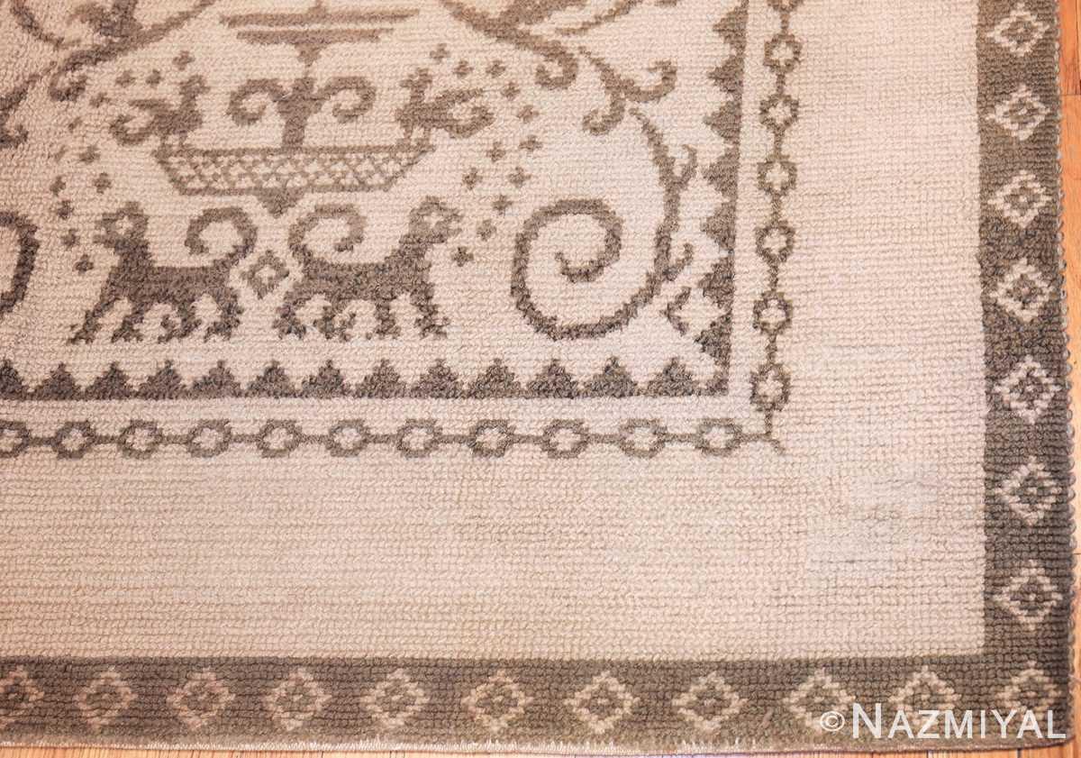 vintage spanish alpujarra rug 46974 detail Nazmiyal