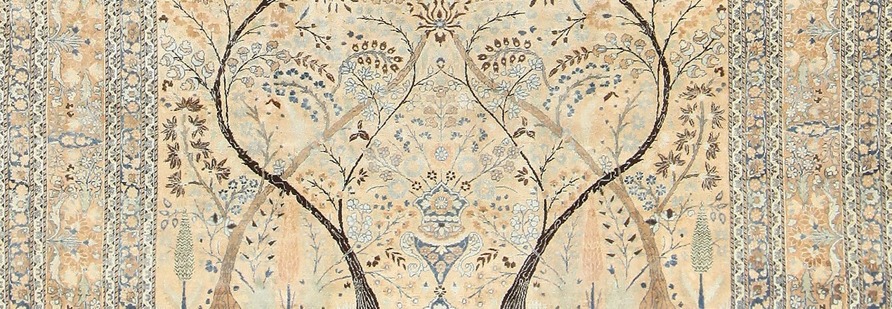 Fine Antique Persian Khorassan Tree Of Life Design Rug by Nazmiyal