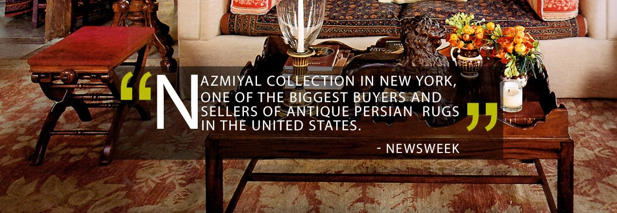 """Nazmiyal Collection in New York, one of the biggest buyers and sellers of antique Persian rugs in the United States."" - Newsweek"