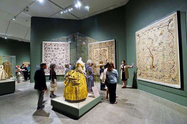 Tree Of Life Tapestry At The Met Museum Antique Textile Exhibit by Nazmiyal