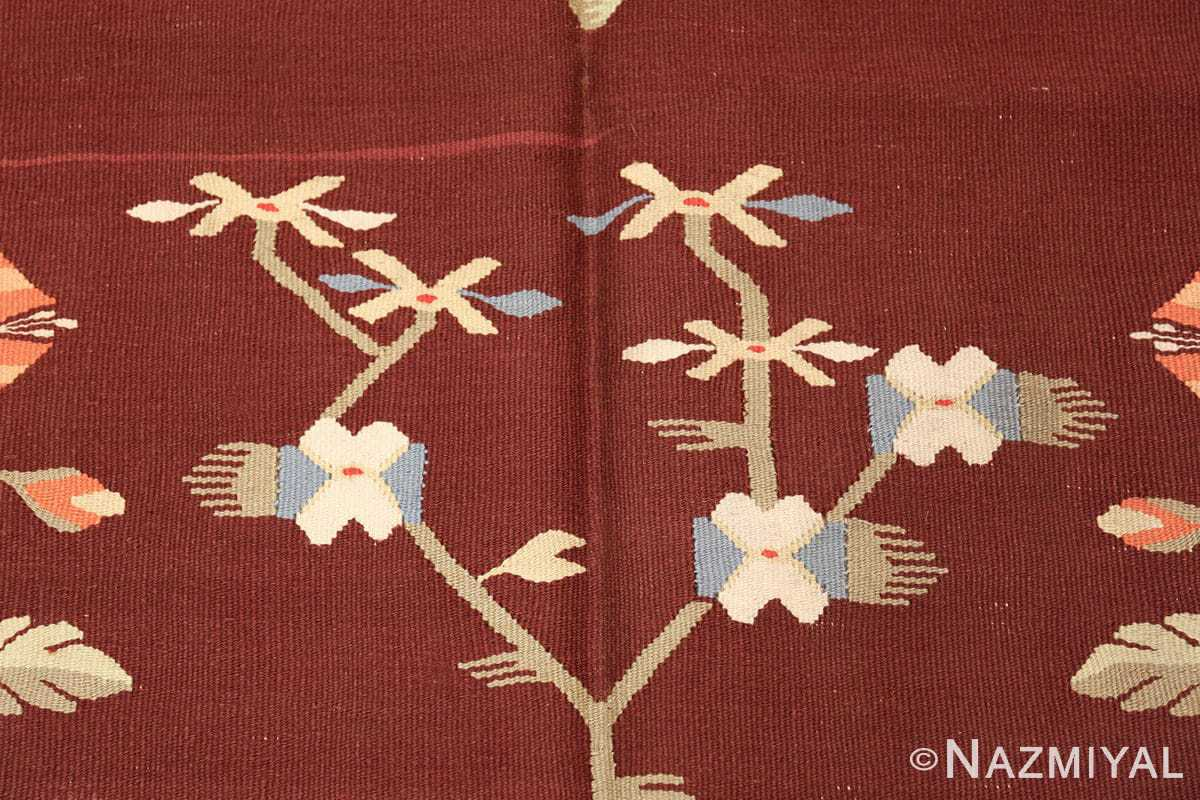 antique bessarabian kilim 47037 flower Nazmiyal