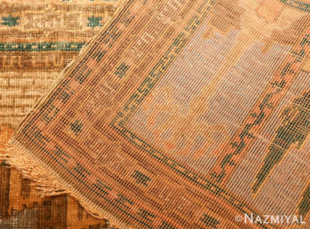 antique silk bezalel rug from jerusalem israel 46984 weave Nazmiyal
