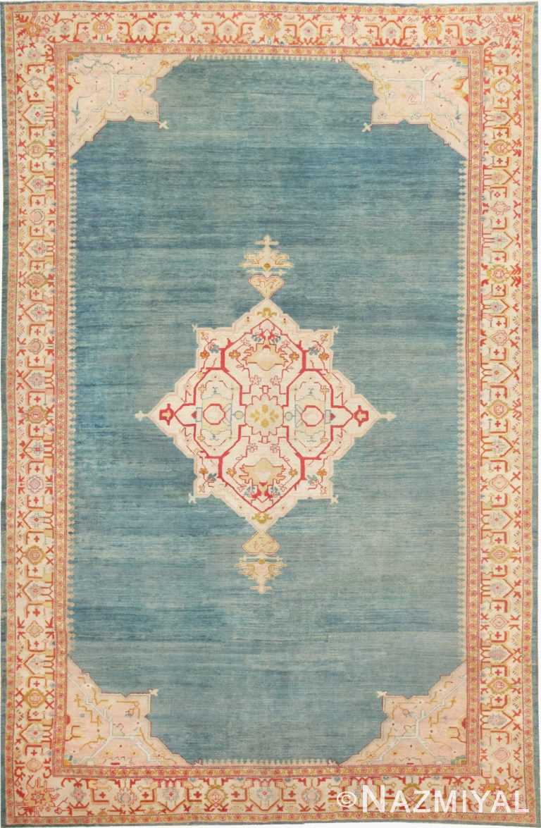 Antique Turkish Oushak Rug 47046 Large Image Nazmiyal