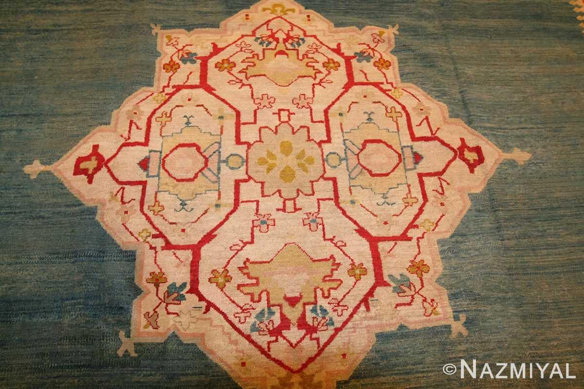 antique turkish oushak rug 47046 medallion Nazmiyal