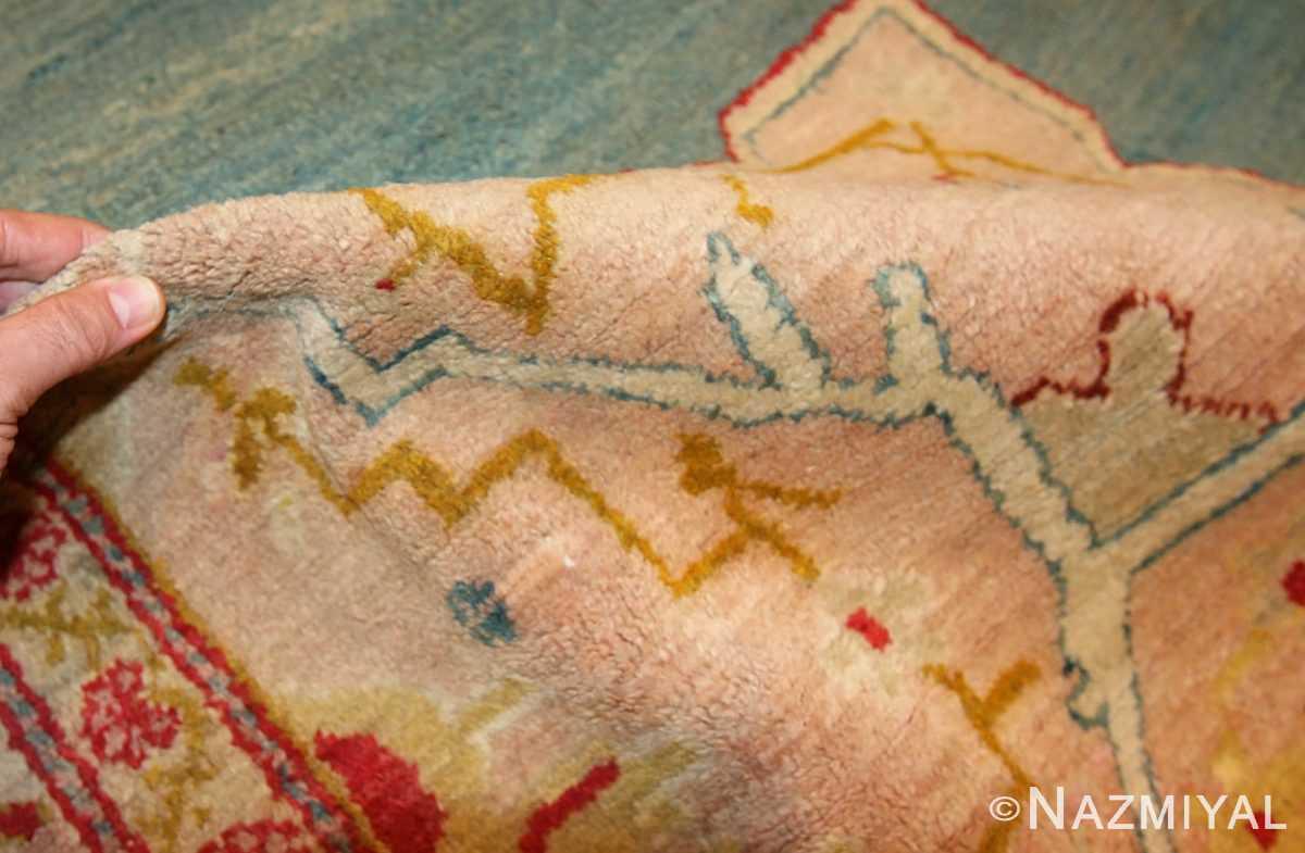 antique turkish oushak rug 47046 pile Nazmiyal