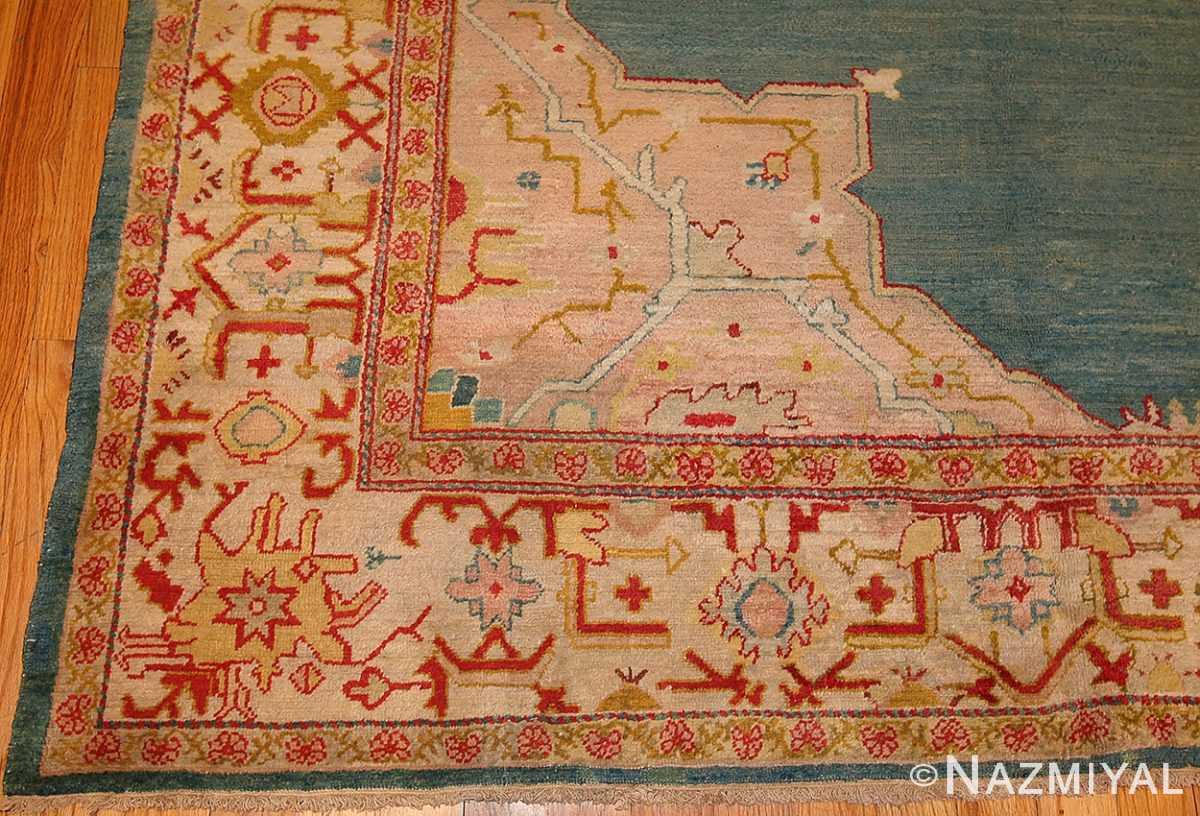 antique turkish oushak rug 47046 sides Nazmiyal