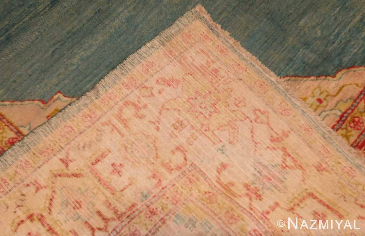 antique turkish oushak rug 47046 weave Nazmiyal