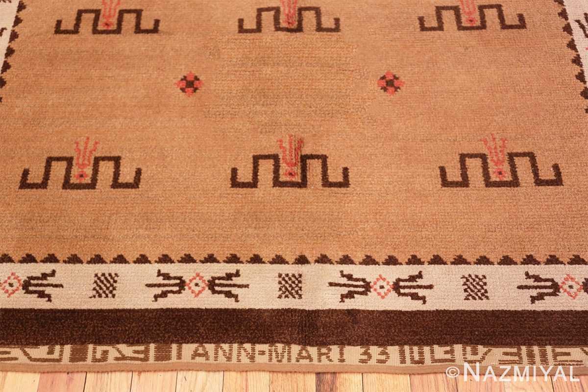 Border Vintage Scandinavian rug 47000 by Nazmiyal