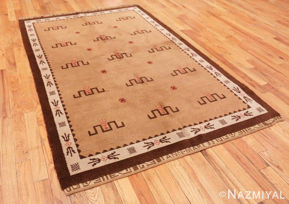 Full Vintage Scandinavian rug 47000 by Nazmiyal