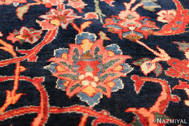 vintage navy color persian bidjar rug 46734 closeup Nazmiyal
