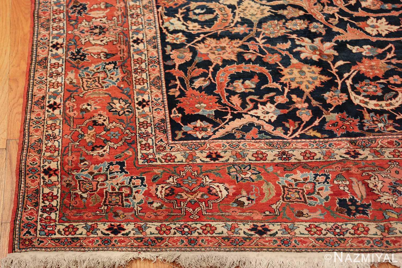 vintage navy color persian bidjar rug 46734 corner Nazmiyal