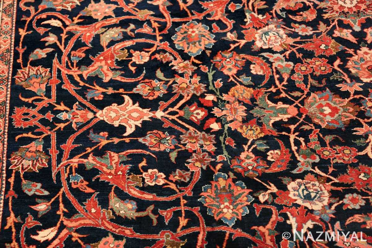 vintage navy color persian bidjar rug 46734 design Nazmiyal