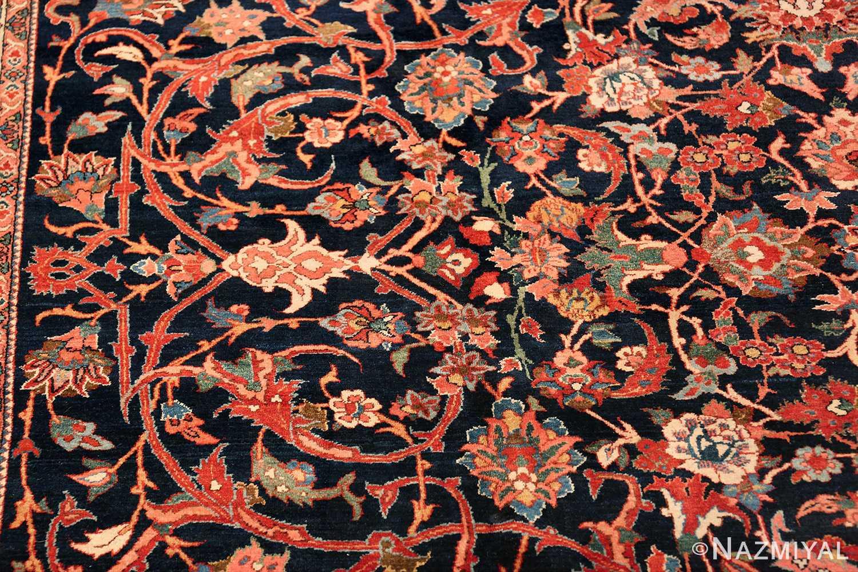 vintage navy color persian bidjar rug 46734 design Nazmiyal