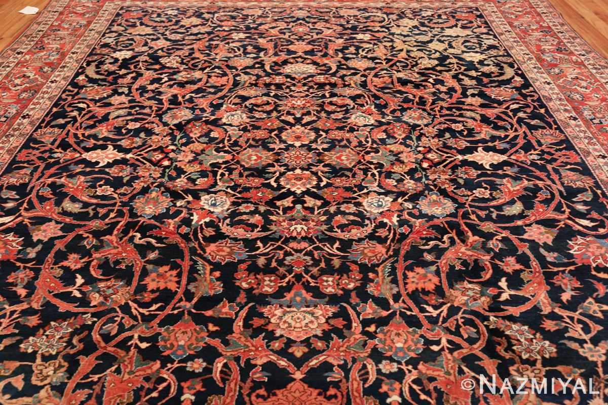 vintage navy color persian bidjar rug 46734 field Nazmiyal