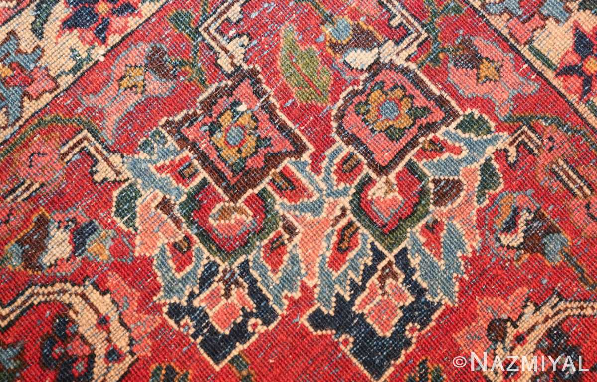 vintage navy color persian bidjar rug 46734 knots Nazmiyal