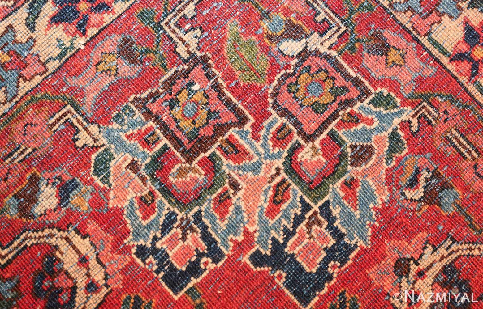 vintage navy color persian bidjar rug 46734 knots Nazmiyal