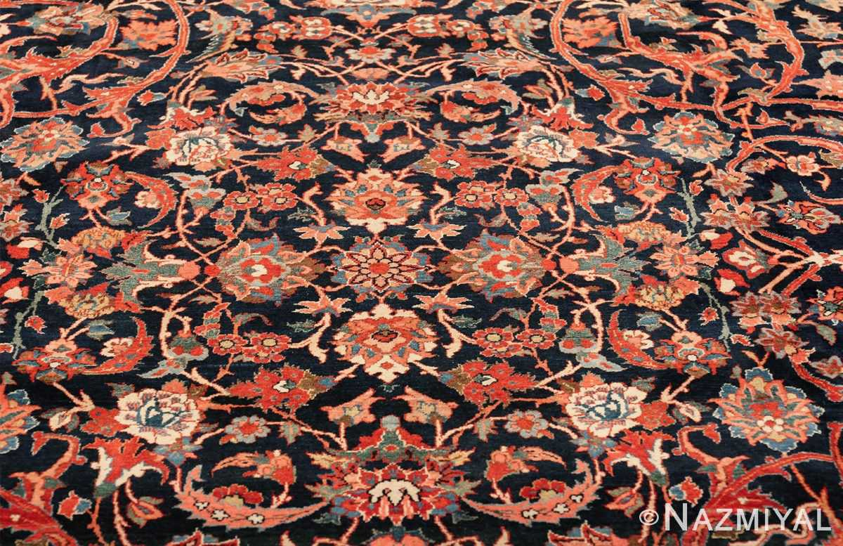 vintage navy color persian bidjar rug 46734 medallion Nazmiyal