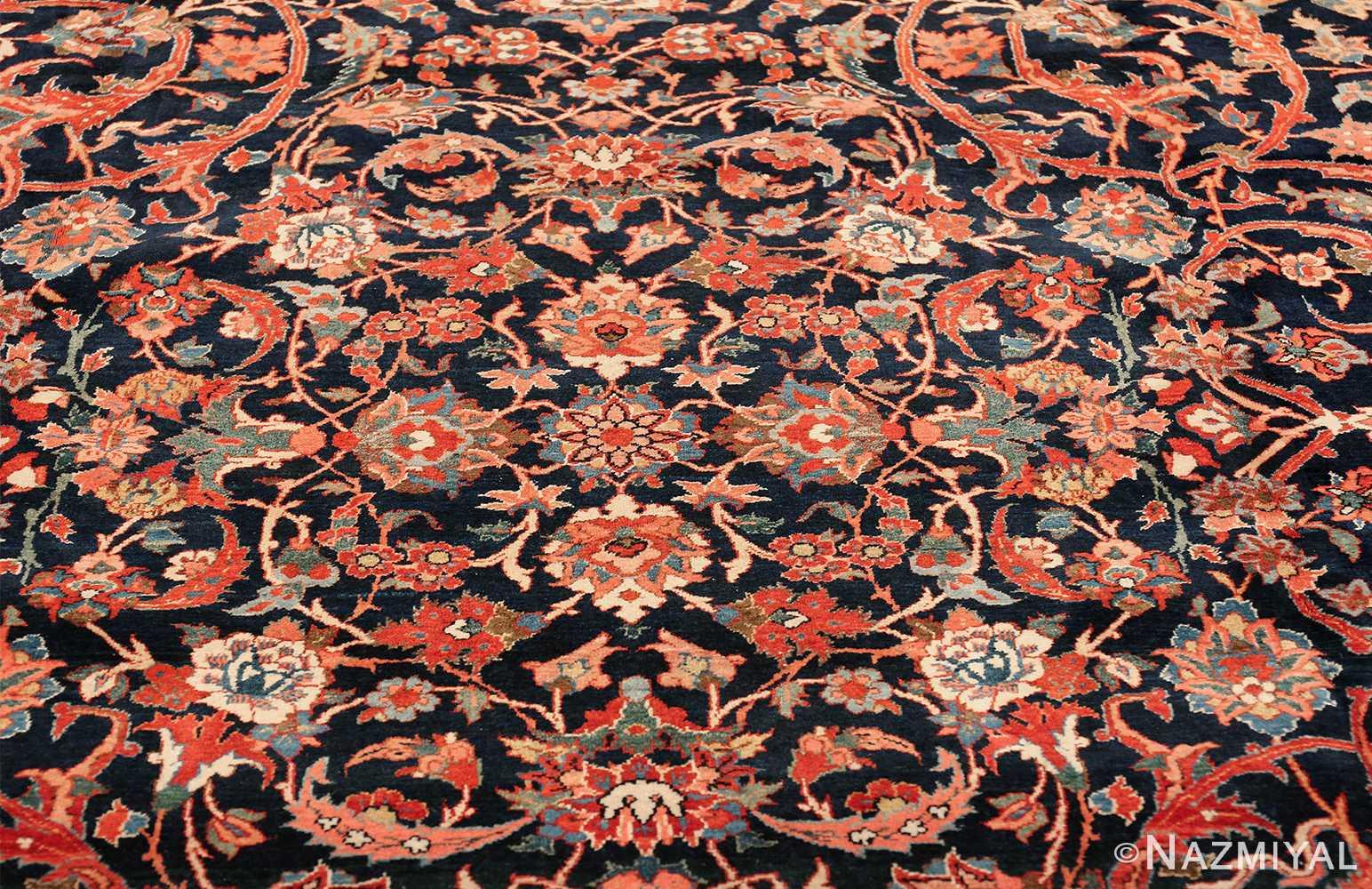 vintage navy color persian bidjar rug 46734 medallion Nazmiyal