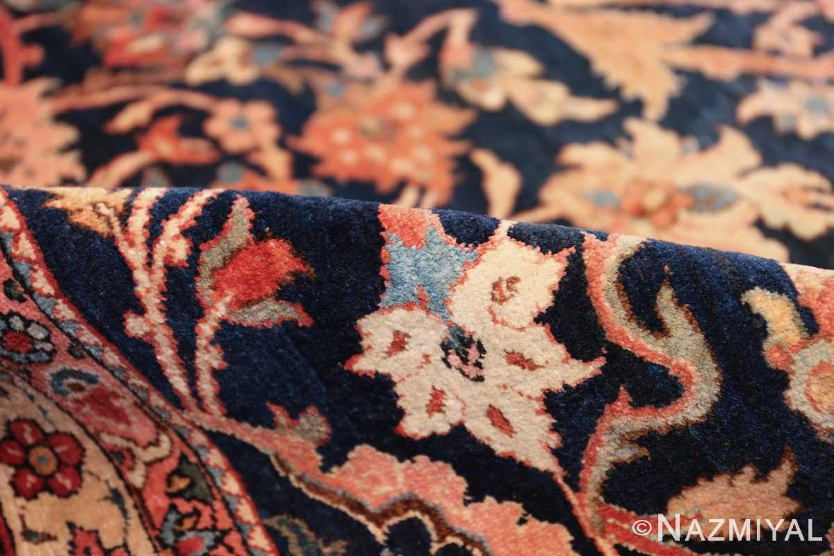 vintage navy color persian bidjar rug 46734 pile Nazmiyal
